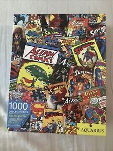DC ACTION COMICS Superman Aquarius 1000 Piece Jigsaw Puzzle excellent condition