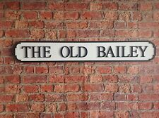 Vintage Wood Street Road Sign THE OLD BAILEY