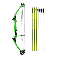 Genesis Original Youth Bow for Beginner Archers (Green, Rh) and Arrows Kit (6)