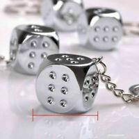 Fashion Dice Key Ring Key Chain Keyring Car Keychain Pendant Charm Gift 1PC
