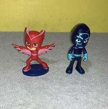"""Disney PJ Masks Sparkle Night Ninja Blue Figure  3"""" Just Play Figure w/ Owlette"""