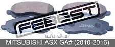 Pad Kit, Disc Brake, Front - Kit For Mitsubishi Asx Ga# (2010-2016)
