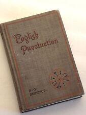 English Punctuation BG Benedict 1899 Hardcover  HTF Antique Book Language