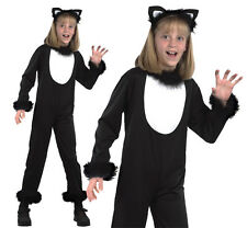 Childrens Black Cat Fancy Dress Costume Witches Pet Halloween Outfit M