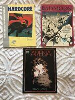 Marvel Arena Piranha Press Hardcore Arcane Comix Bad Moon Graphic Novel lot