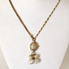 Victorian Wedding Necklace Watch Pendant Vintage Gold Tone Steampunk Handmade 9