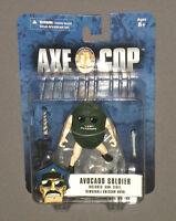 "Axe Cop 4"" Action Figure Avocado Soldier w Gun, Flute & Removable Unicorn Horn"