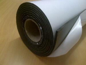 Neoprene Foam Sheet Self Adhesive - Sound Proofing, Insulation 1m x 900mm x 2mm
