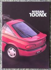 NISSAN 100 NX CAR SALES BROCHURE FEBRUARY 1992