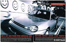 PUBLICITE ADVERTISING  1996     CHRYSLER   NEON (2 pages)