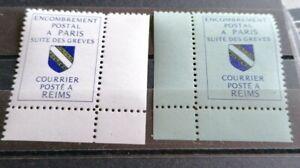 Timbres De Grève Reins 1988 No 39,40 **neufs Cote 40 €