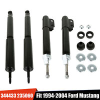 4PC Front & Rear Shocks Absorber Struts For 1994-2004 Ford Mustang GT Base Coupe