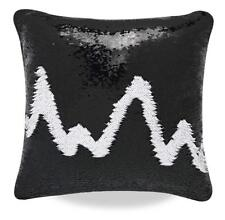 Sequin Glitter Pillow Case Cover Reversible Magic Stress Relief Black & White