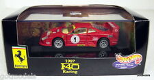 HOT WHEELS 1/43 - 22176 1987 FERRARI F40 RACING DIECAST MODEL CAR