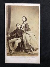 More details for victorian carte de visite cdv royalty: king edward vii & queen alexandra: ghemar
