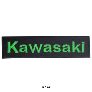 Kawasaki Motorbike Racing Logo Embroidered Patch Iron Patch on Sew On Badge