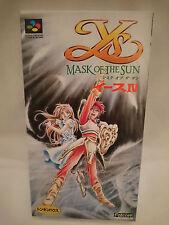 Ys IV: Mask of the Sun for Nintendo SNES/Super Famicom [NTSC-J]