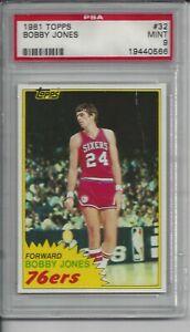 1981 Topps Basketball #32 Bobby Jones - PSA 9