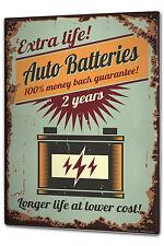 Tin Sign XXL Nostalgic Car Retro Auto Batteries Vintage
