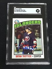HOF BRYAN TROTTIER 1976-77 TOPPS ROOKIE SIGNED AUTOGRAPHED CARD SGC AUTHENTIC