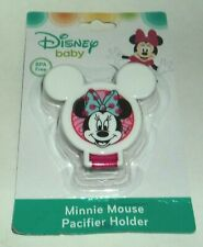 DISNEY Baby Minnie Mouse Pacifier Holder WHITE # 4 NIP
