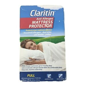 Anti Allergen Mattress Protector Hypoallergenic Cover CLARITIN Allergies Full