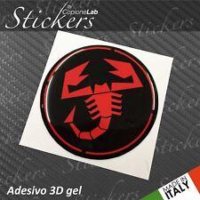 1 Adesivo Stickers Logo ABARTH Fiat BLACK & Red resinato 3D 70 mm auto