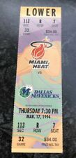 1993-94 MIAMI HEAT VS DALLAS MAVERICKS NBA BASKETBALL FULL TICKET STUB
