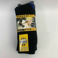 NEW ELASTANE Black Thick Work Boots Self Heating Pair Socks Shoe Size 6-11 Mens