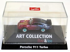 Herpa 1/87 HO Scale - Porsche 911 930 Turbo Fire & Ice Tiny Model Car + Case