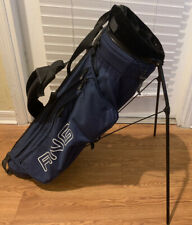 PING L8+ Karsten 5 Way Divider Carry Stand Golf Bag Dual Straps Blue. No Cover