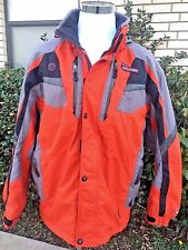Men's Spyder Ski Jacket Size XL Entrant Dermizax-EV Thinsulate Orange Grey Black