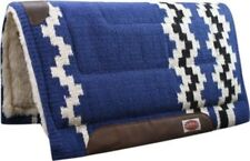"Showman BLUE 36"" x 34"" Wool Top Western Cutter Style Saddle Pad! HORSE TACK!"