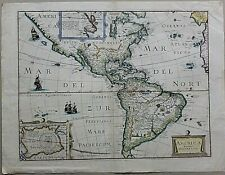 AMERICA NOVITER DELINEATA - Original 1650 P.Mariette Map