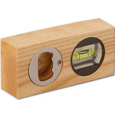 Mini Wasserwaage mit Flaschenöffner Dekorationsartikel aus Eschenholz L 10 cm