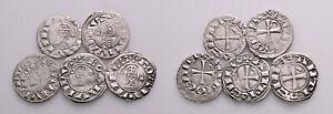 Group of 5 Crusader Deniers (1163-1219 AD) #CR 7918