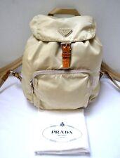 Prada Nylon Vela Medium Backpack Rucksack Bag Dust Bag #58 Beige + Dust Bag