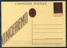 Luogotenenza 1945 Intero postale 100% Filagrano C117 non viaggiato