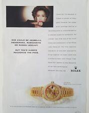 1999 Rolex Oyster Perpetual women's datejust watch Dame Kiri Te Kanawa ad