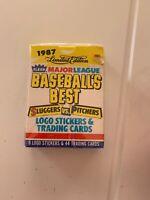 1987 Fleer Baseball's Best Limited Edition Sluggers Vs Pitchers Factory Sealed