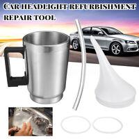 Car Headlight Lens Restoration Kit Restorer Polishing Tool w/ Double Cover