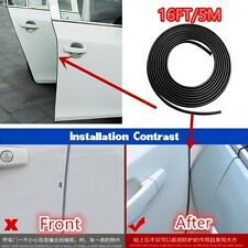 5M Black Styling Strip Trim Car Van Door Edge Guard Moulding Protector Strip