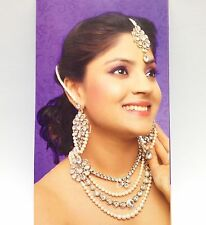 Indian Asian Jewellery Party Ethnic Wear Bridal Bollywood Necklace Set