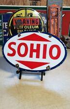 SOHIO porcelain sign SOUTHERN OHIO vintage petroleum gas pump plate
