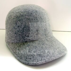 100% Wool Casquette Hat Baseball Cap Casual Solid Unisex | Charcoal Grey | S M L