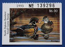 U.S. (ND12h) 1993 North Dakota State Duck Stamp - hunter type (MNH)