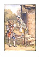 Childrens print.1923.Cicely Mary Barker.Music print.Genuine.Old.Drum.Flute