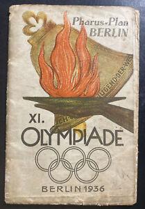 Original Germany Berlin Olympics Games 1936 Map Plan