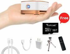 AMOOWA Mini Portable Movie Projector Wireless Wi-Fi Design 100 Ansi lm High Cont