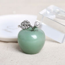 30mm Natural Crystal Paperweight Green Apple Figurine Decoration Christmas Gift